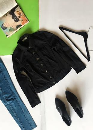 Фирменная чёрная куртка пиджак mire&more. р-р s
