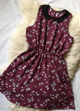 Платье с воротником вискоза new look