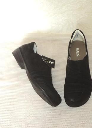 """Комфортные фирменные туфли с нубука от """"marc"""", р 38-38,5"""