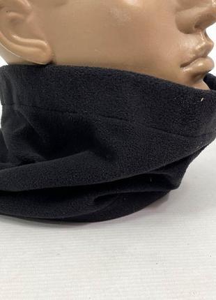 Баф флисовый черный (без резинки)