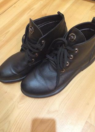 Ботинки утеплённые кожаные польша 🇵🇱
