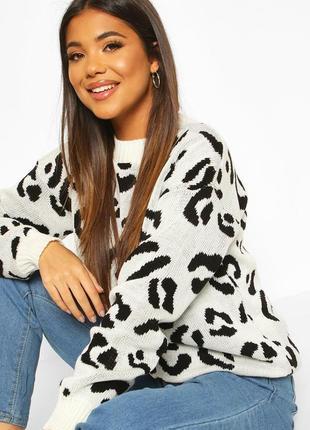 🌿 трендовый, леопардовый свитерок от boohoo