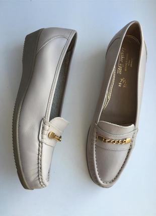 Кожаные туфли 41 р. лоферы, мокасины натуральная кожа,