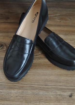 Кожаные лоферы туфли gritti / шкіряні лофери