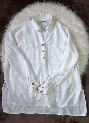 Женская белая рубашка блуза noisy may