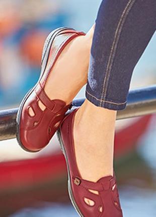 Кожаные туфли hotter nirvana / шкіряні туфлі