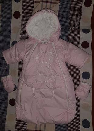 Спальный  мешок, конверт, кокон  esto польша 60-62 см  для девочки