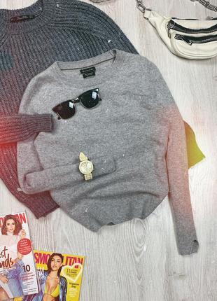 🌿 серый базовый свитер massimo dutti • кашемировый джемпер