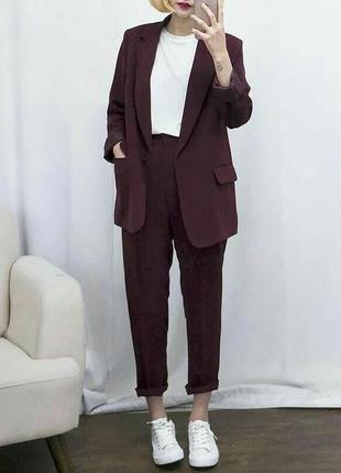 Безумно крутые брюки-чиносы бордового цвета новые taylor&wright