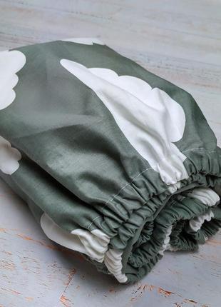 Простынь на резинке в кроватку(сатин)
