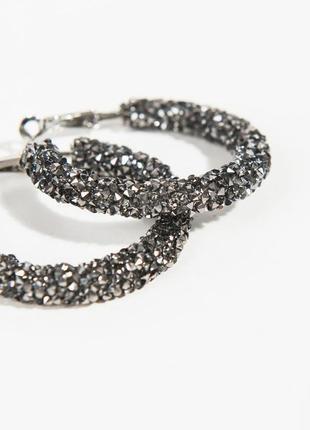 Серьги-кольца с мелкими кристаллами parfois
