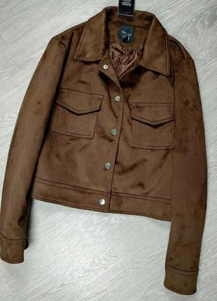 Замшевая шоколадная коричневая куртка