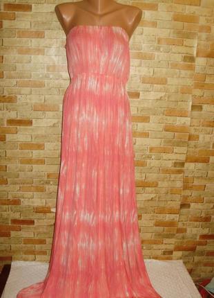 Новое макси платье без бретелей трикотаж 18/52-54 размера