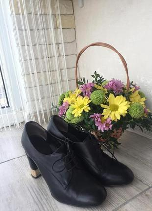 Кожаные ботинки ботильоны antonio biaggi