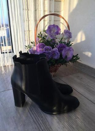 Ботильоны ботинки натуральная кожа helene rouge