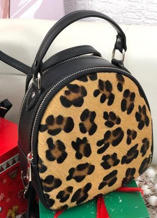 Кожаный рюкзак сумка италия