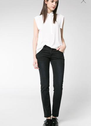 Черные джинсы mango alice slim размер 34 евро