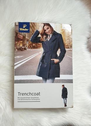 Tchibo плащ укороченный тренч пальто дождевик 36 р