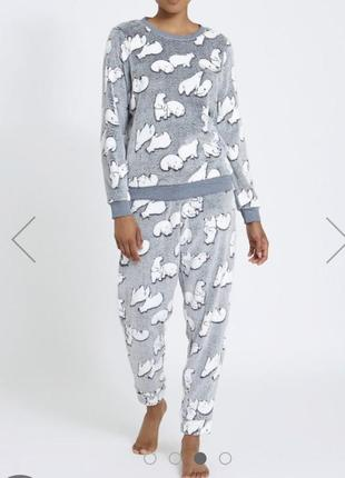 Пижама из пушистого флиса dunnes, англия