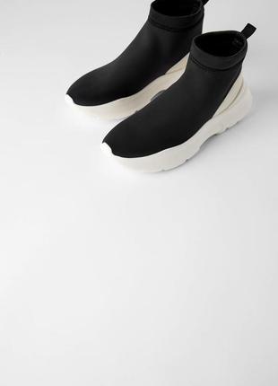 Zara ботинки трикотажные