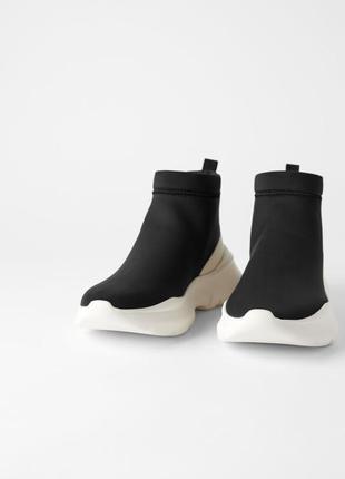 Zara ботинки трикотажные5 фото