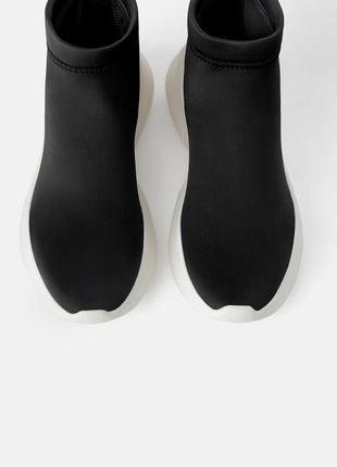 Zara ботинки трикотажные4 фото