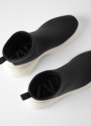 Zara ботинки трикотажные6 фото