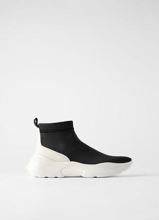 Zara ботинки трикотажные7 фото
