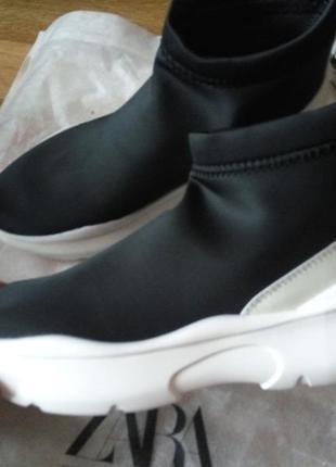 Zara ботинки трикотажные9 фото