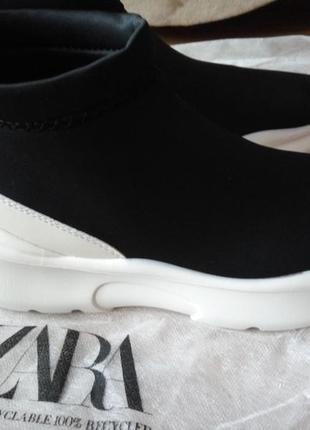 Zara ботинки трикотажные8 фото