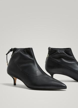 Кожаные ботильоны, ботинки massimo dutti