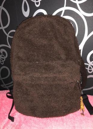 Плюшевый рюкзак цвет шоколадный/коричневый унисекс