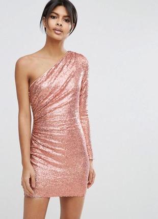 Платье asos  блестящее, коктейльное😍