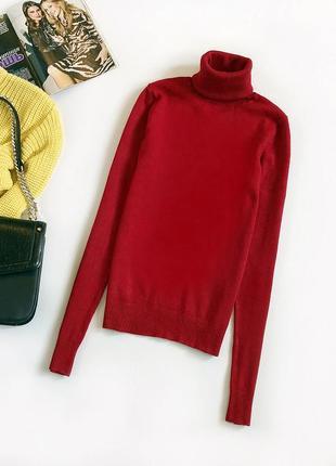 Обалденный базовый джемпер с воротником-стойкой zara (свитер, гольф)