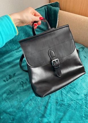 Кожаная сумка-рюкзак / шкіряна сумка-рюкзак