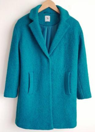 Яркое пальто tu демисезон, в составе шерсть