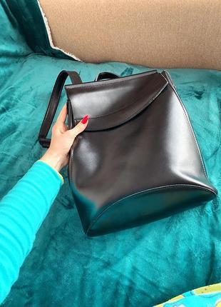 Кожаная сумка-рюкзак/шкіряна сумка-рюкзак