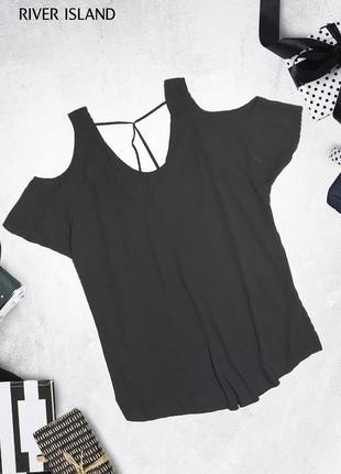 Оверсайз футболка блуза с лентами на спине river island