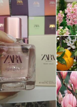 Жіноча парфумована водичка zara rose gold 100 ml