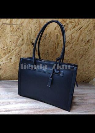 Женская классическая офисная сумка david jones cm3922t  черная