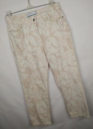 Джинсы брюки новые стрейчевые модные в принт next uk 14/42/l