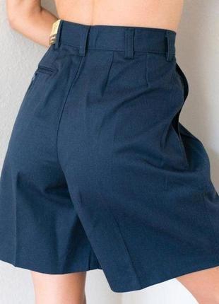 Шорты бермуды из гладкой костюмной шерсти темно синие peter hahn woolmark