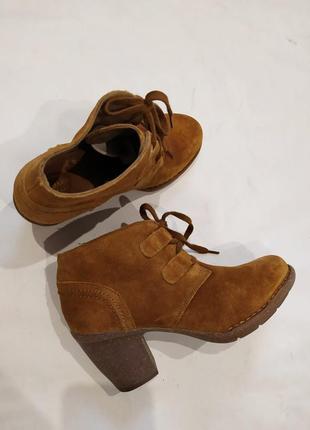 Мега классные ботинки ,ботильоны натуральная замша.