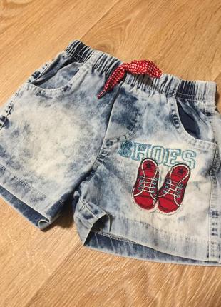 Джинсовые шорты на резинке