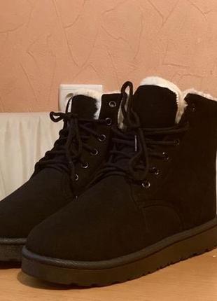 Ботинки зимние угги на шнуровке новые р. 37