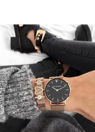 Изысканные женские наручные часы с браслетом. годинник, набор.  осталось всего 3 набора !