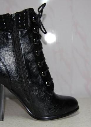 Ботинки женские цвет черный р. 38