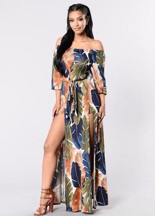 Красивейшее платье со вшитыми шортиками, пр-во сша, р.l, наш 46-48