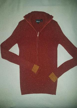 Шерстянной гольф водолазка кофта свитер just cavalli,оригинал (cos sandro maje)