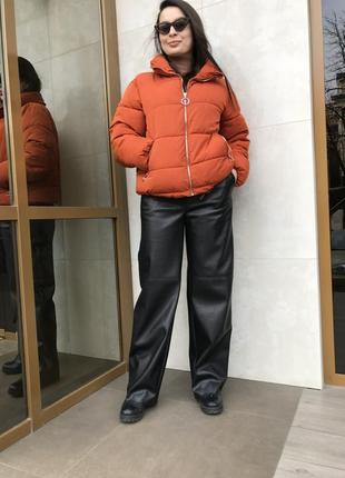 Кожаные брюки3 фото